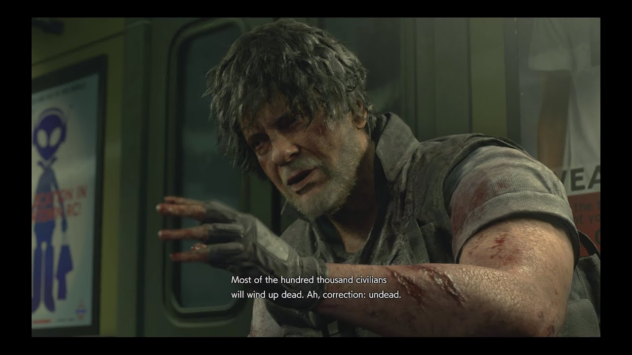 Resident Evil 3 Remake But Everyone Has Carlos Hair Youtube