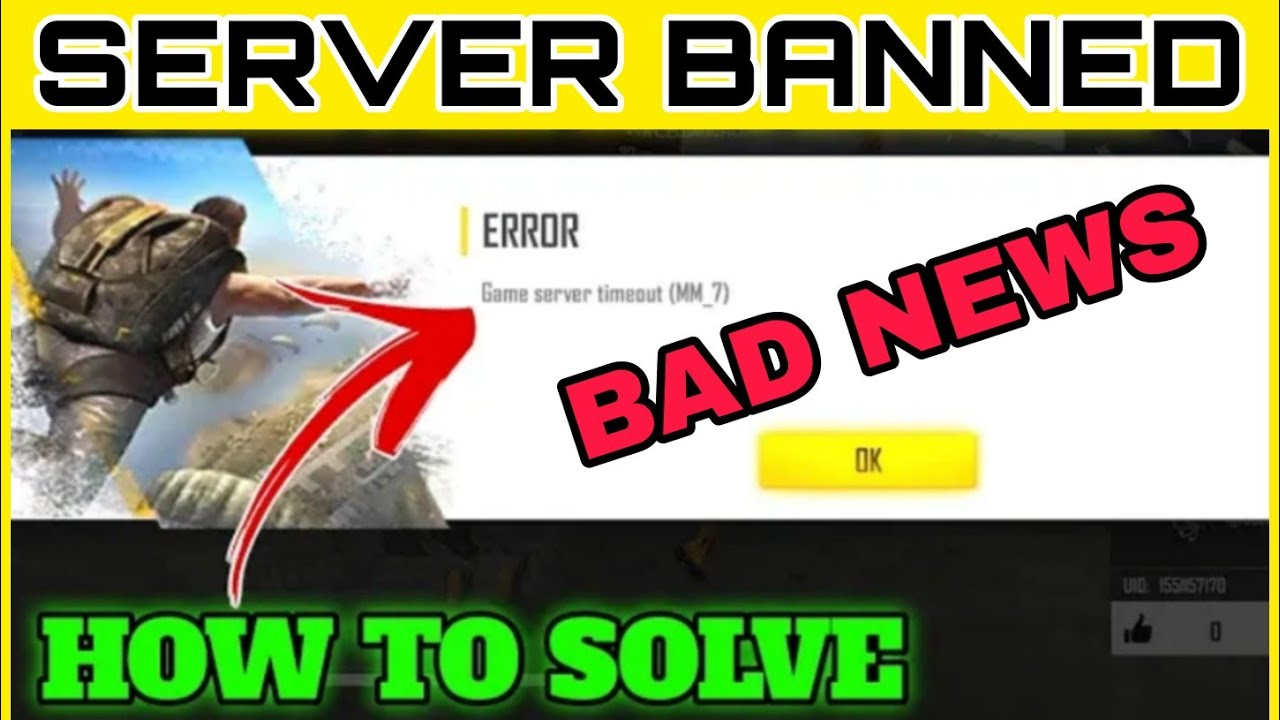 FREE FIRE SERVER BANNED😭 HOGAYA - HOW TO SOLVED SERVER TIMEOUT PROBLEM S