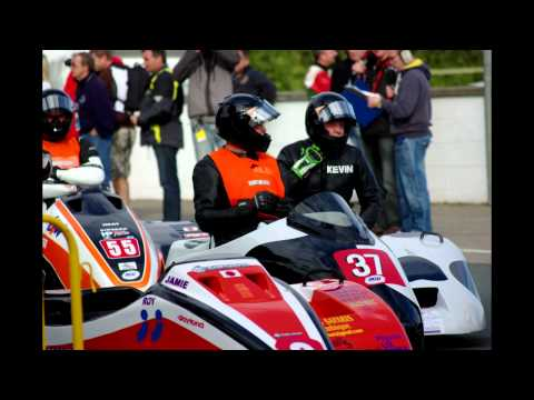 Isle of Man TT 2011 First Practice  sidecars on the grid