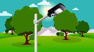 Lámpara Solar de Calle con Cámara WiFi SUNLUX GUARD