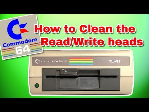 How To CLEAN a Commodore 1541 Drive READ / WRITE Heads PLUS 1541-II & 1571  drives