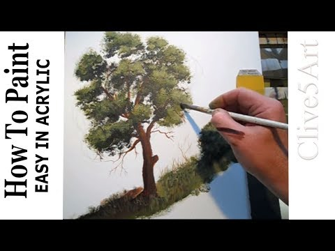 How to paint a tree acrylic painting lessons for for Tips for using acrylic paint