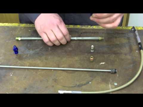 hook up hydraulic hoses