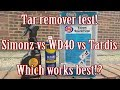 Tar Remover Test Simonz Vs WD40 Vs Tardis Which Is Best mp3