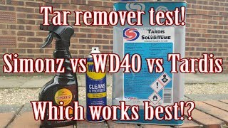 Tar remover test! Simonz vs WD40 vs Tardis - Which is best?