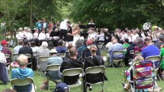 Wedding couple appears at Greenwood Concert Band performance