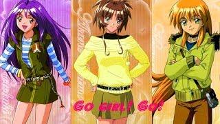 寿美幸(高野直子)・一文字茜(野村真弓)・赤井ほむら(くまいもとこ) - Go girl! Go!