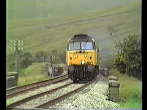 47 Carlisle - Leeds at north end of Blea Moor tunnel. 1988.