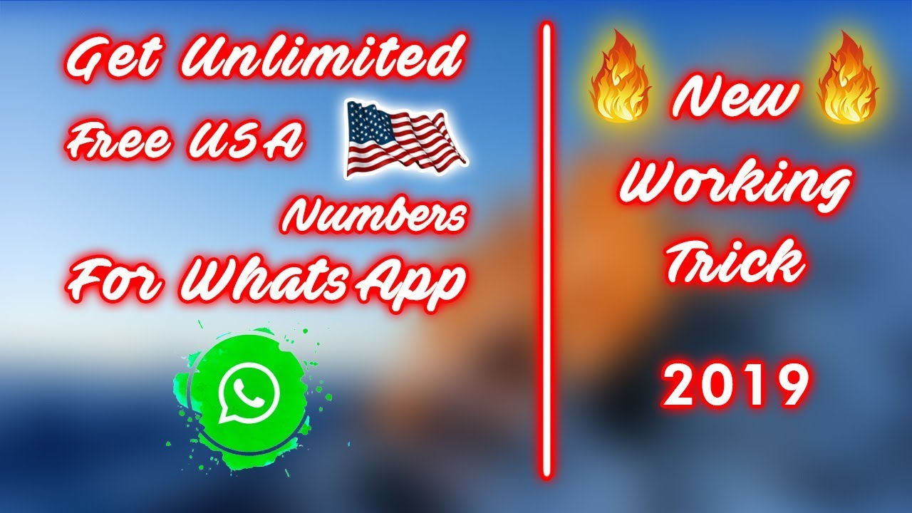 Get Unlimited Free USA Numbers For WhatsApp | New 100% Working Trick 2019 |  No SignUp Error