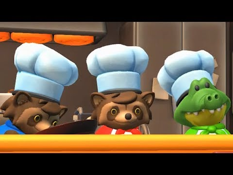 When you're short on players for Overcooked 2 so you play two characters at once