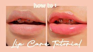 Tutorial Lip Care // tips mencerahkan bibir gelap
