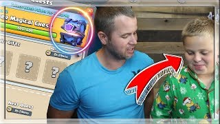 MY SON almost STOPS this SUPER MAGICAL CHEST opening! Clash Royale
