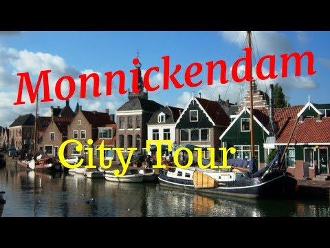 Monnickendam, The Netherlands (Town Tour) Walking/Cycling.. GoPro
