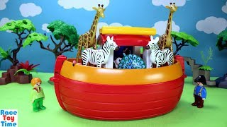 Playmobil 1-2-3 Noah's Animals Ark Playset Fun Toys For Kids with Sea Animals in the Pool