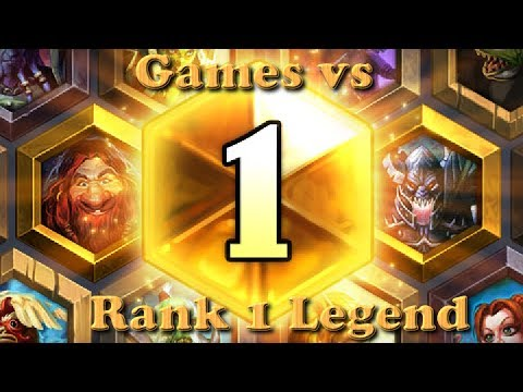 Hearthstone - Two games vs the number 1 ranked legend. - Season 1