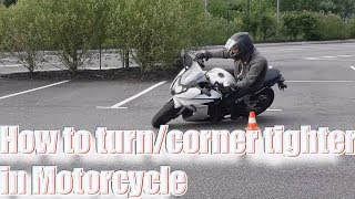 How to corner or to turn tighter in Motorcycle: part 3, Slowing down while leaned