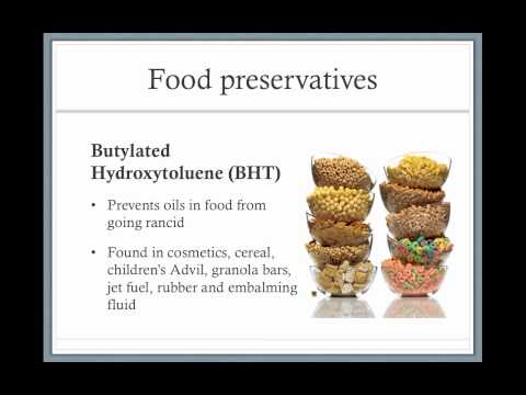 Types of food preservatives