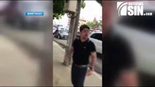 Sobrino de Monchy Fadul acusado de agredir agentes de AMET en Santiago