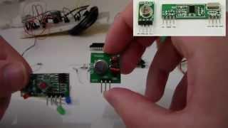 Como montar Controle sem fio rf 433 Mhz Passo a passo com esquematico