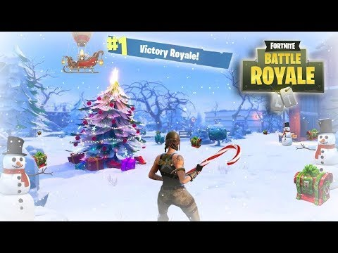 FORTNITE BATTLE ROYALE LIVE STREAM! PLAYING THE NEW WINTER ...