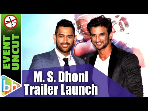 M. S. Dhoni | The Untold Story |  Sushant Singh Rajput | Official Trailer | Event Uncut