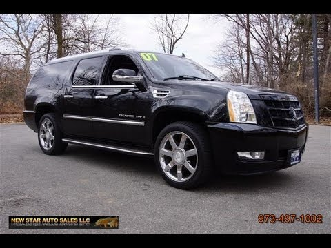 2007 Cadillac Escalade Esv Black Youtube