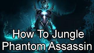 DoTa 2 How To Jungle Mortred. Phantom Assassin! 15 min BF!