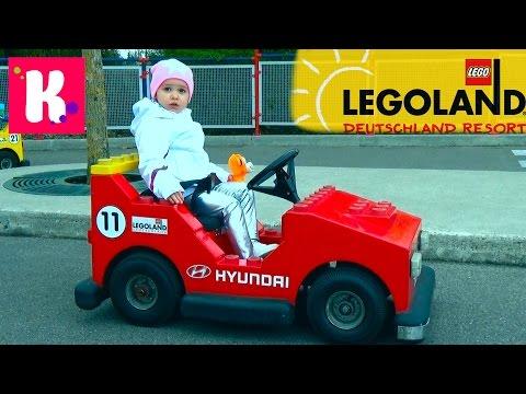 Смотреть Германия #17 Леголенд парк аттракционов/ Катя выиграла игрушку кошечку/ Legoland Germany онлайн