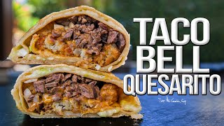 Homemade Taco Bell Quesarito - One Seriously EPIC Burrito Recipe | SAM THE COOKING GUY 4K