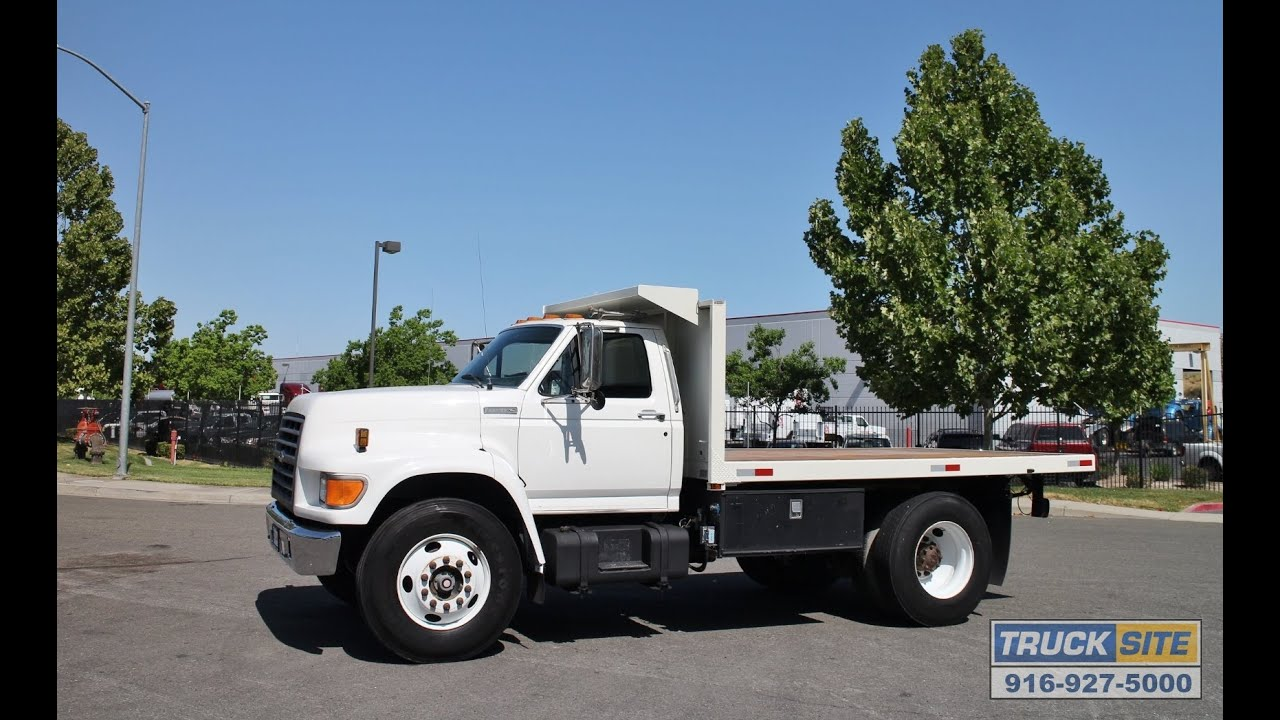 1996 Ford F Series 12 Flatbed Dump Truck For Sale By