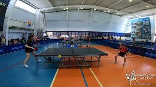 4к HD Мартынова Марина и Позняева Анастасия. Турнир по настольному теннису город Гагарин 9-11 апреля