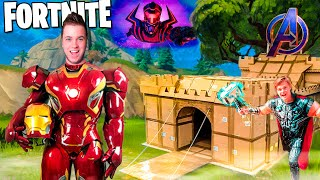 FORTNITE IRL The MOVIE! Marvel Avengers Vs Galactus Box Fort