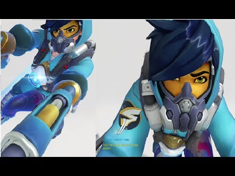 Overwatch Tracer GRAFFITI Skin Gameplay