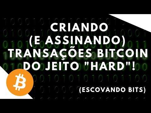 [Escovando Bits] Criando (e Assinando) Transações Bitcoin Sem Uma Wallet