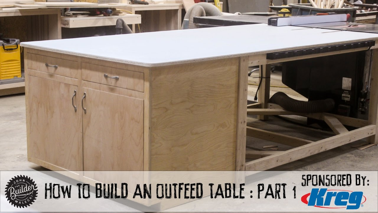How To Make A Tablesaw Outfeed Table Part 1