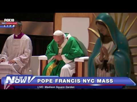 FNN: Pope Celebrates Mass At Madison Square Garden And Visits A NYC School