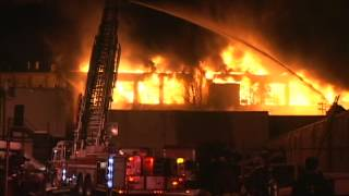 Paterson NJ HUGE WAREHOUSE FIRE 90 George St Feb 5th 2014 General Alarm Fire