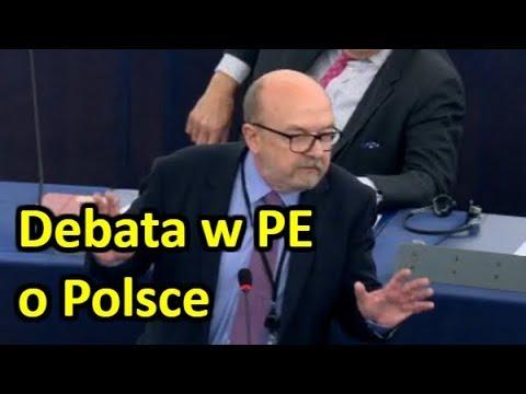 Prof. Legutko mocno w obronie Polski w PE (15.11.2017)