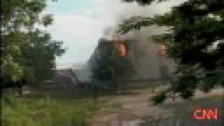 destroyed georgian t 72 tanks in south ossetian capital