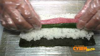 Как готовить роллы. Суши Шоп. / How to make delicious and tasty sushi.