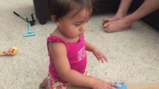 practicing how to walk & introducing the potty