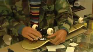 How To Customize A Skateboard : Applying Skateboard Stickers