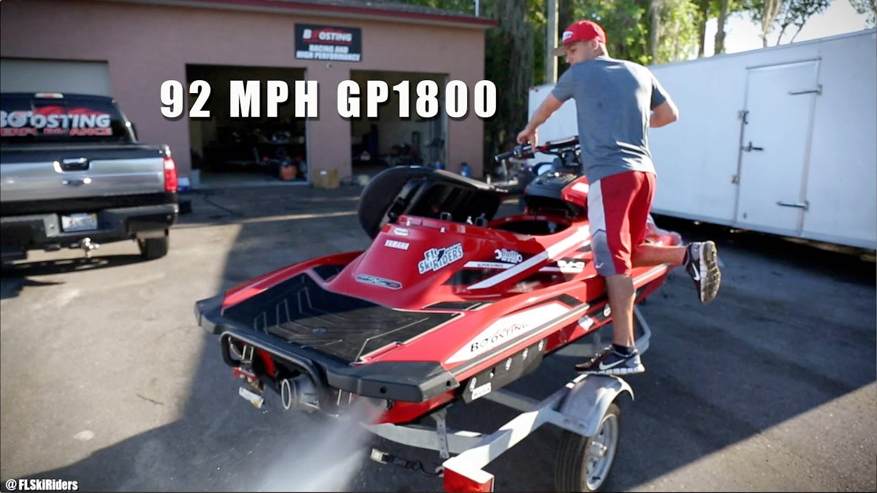 92 mph yamaha gp1800 by boosting performance youtube for Yamaha gp1800 horsepower