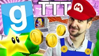 SUPER MARIO 64 | Gmod TTT(Gmod TTT funny moments! In Gmod today, we take a nostalgia trip to a Nintendo 64 world where we play in a perfect recreation of Peach's castle from Mario 64., 2017-03-02T18:00:05.000Z)