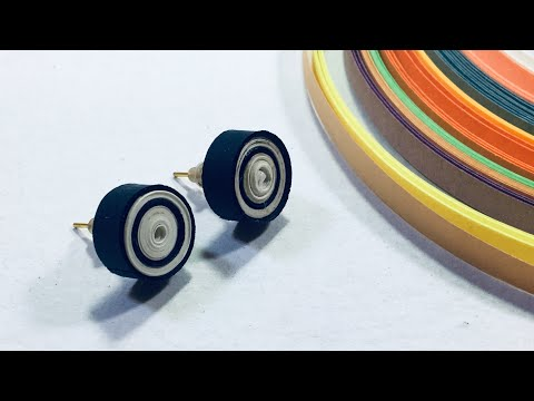 DIY Quilling Papers Earrings making/ Beautiful Paper Earrings