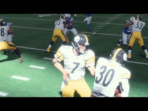 Madden 18 Steelers vs Colts | Early Capture 1080p Gameplay