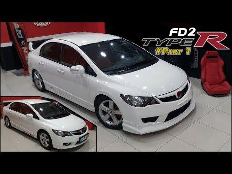 Honda Civic | FD2 TypeR Body Kit // Modification (Facelift) # Part1