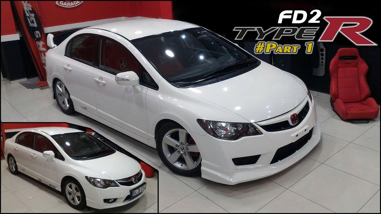 Honda Civic Fd2 Typer Body Kit Modification Facelift Part1
