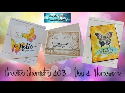 Paper Crafting Art  - Creative Chemistry 103 Homework