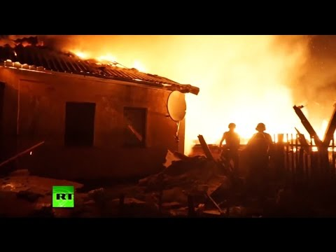 'Everybody's fed up with this war': Fighting in East Ukraine heats up (RAW battle video)